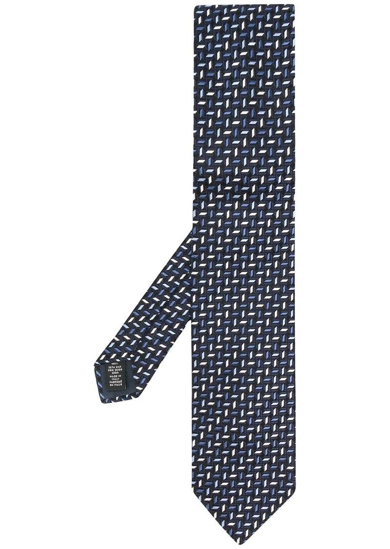 Ermenegildo Zegna geometric jacquard tie