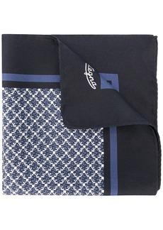 Ermenegildo Zegna geometric pattern pocket square