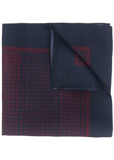 Ermenegildo Zegna geometric print pocket square