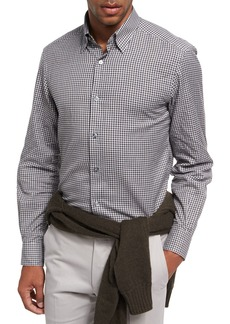 Ermenegildo Zegna Gingham Check Cotton Shirt