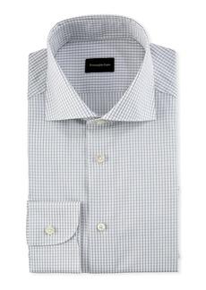 Ermenegildo Zegna Graph-Check Cotton Dress Shirt