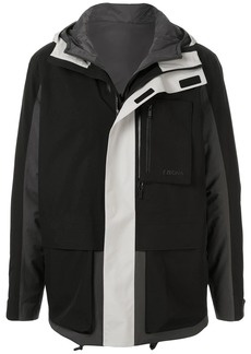 Ermenegildo Zegna hooded colour blocked jacket