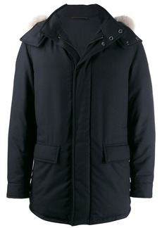 Ermenegildo Zegna hooded single-breasted coat