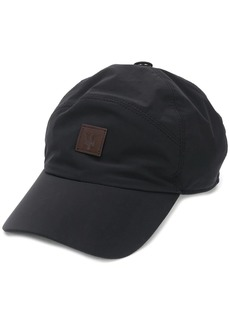 Ermenegildo Zegna leather logo-patch cap