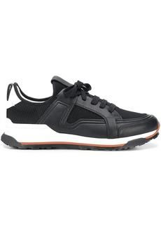 Ermenegildo Zegna leather-panel low-top trainers