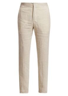 Ermenegildo Zegna Linen Drawstring Trousers
