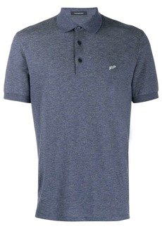 Ermenegildo Zegna logo embroidered polo shirt
