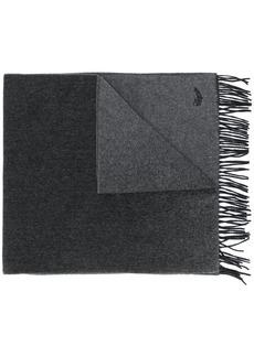 Ermenegildo Zegna logo embroidered scarf