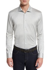 Ermenegildo Zegna Long-Sleeve Button-Down Polo Shirt
