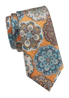 Ermenegildo Zegna Medallion-Print Tie