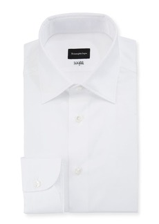 Ermenegildo Zegna Men's 100Fili Cento Solid Poplin Dress Shirt