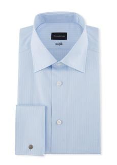 Ermenegildo Zegna Men's 100Fili Tonal Striped Dress Shirt