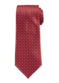 Ermenegildo Zegna Men's Alternating Diamonds Silk Tie  Red