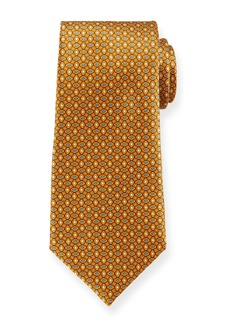 Ermenegildo Zegna Men's Alternating Diamonds Silk Tie  Yellow