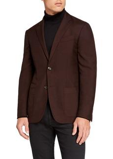 Ermenegildo Zegna Men's Cashmere/Silk Two-Button Regular-Fit Jacket