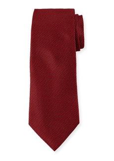 Ermenegildo Zegna Men's Chain-Link Silk Tie  Red