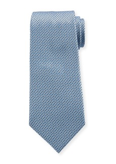 Ermenegildo Zegna Men's Chain Links Silk Tie  Light Blue
