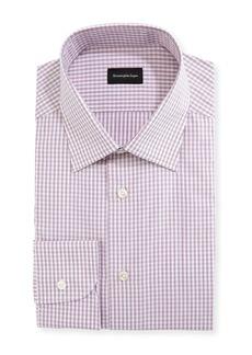 Ermenegildo Zegna Men's Check Cotton Dress Shirt
