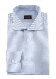 Ermenegildo Zegna Men's Cotton Graph Check Dress Shirt