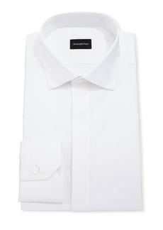 Ermenegildo Zegna Men's Cotton/Silk Hidden-Button Formal Shirt