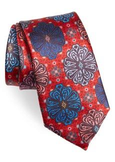 Men's Ermenegildo Zegna Floral Medallion Silk Tie