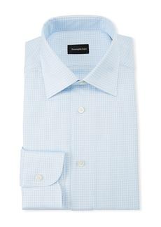 Ermenegildo Zegna Men's Gingham Dress Shirt