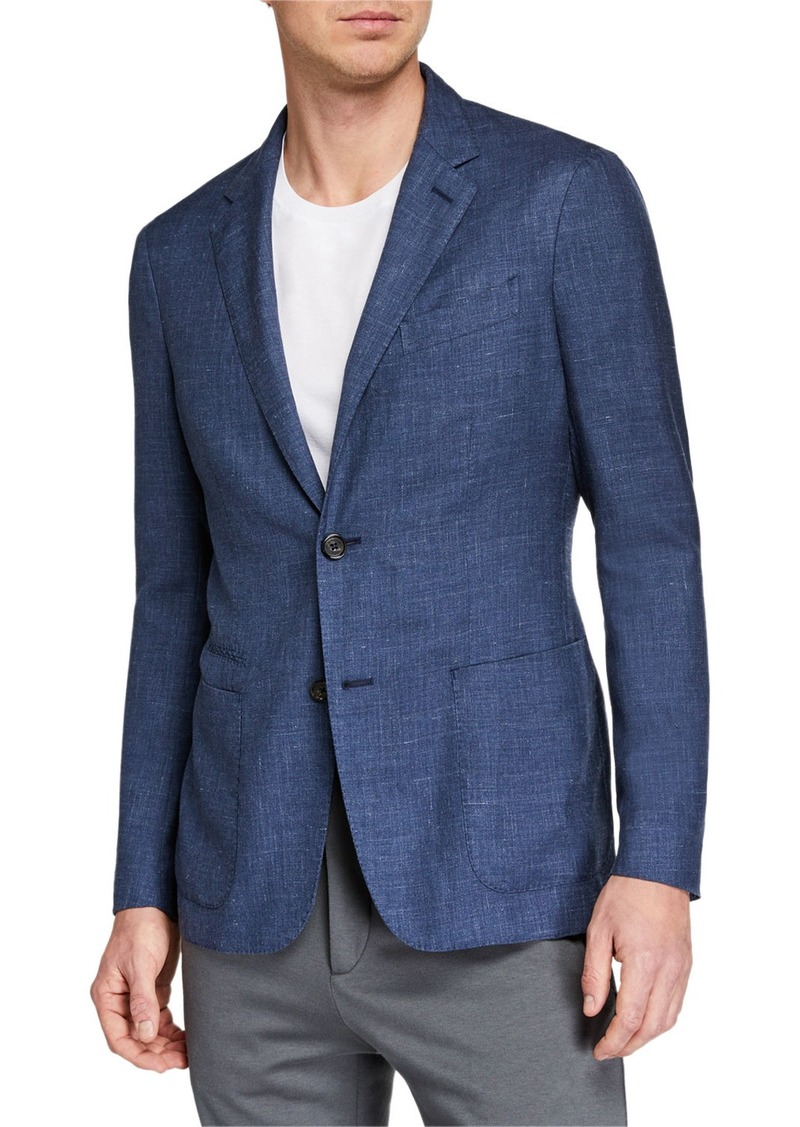 Ermenegildo Zegna Men's Heathered Cashmere-Blend Two-Button Blazer