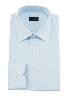 Ermenegildo Zegna Men's Heathered Giza Dress Shirt
