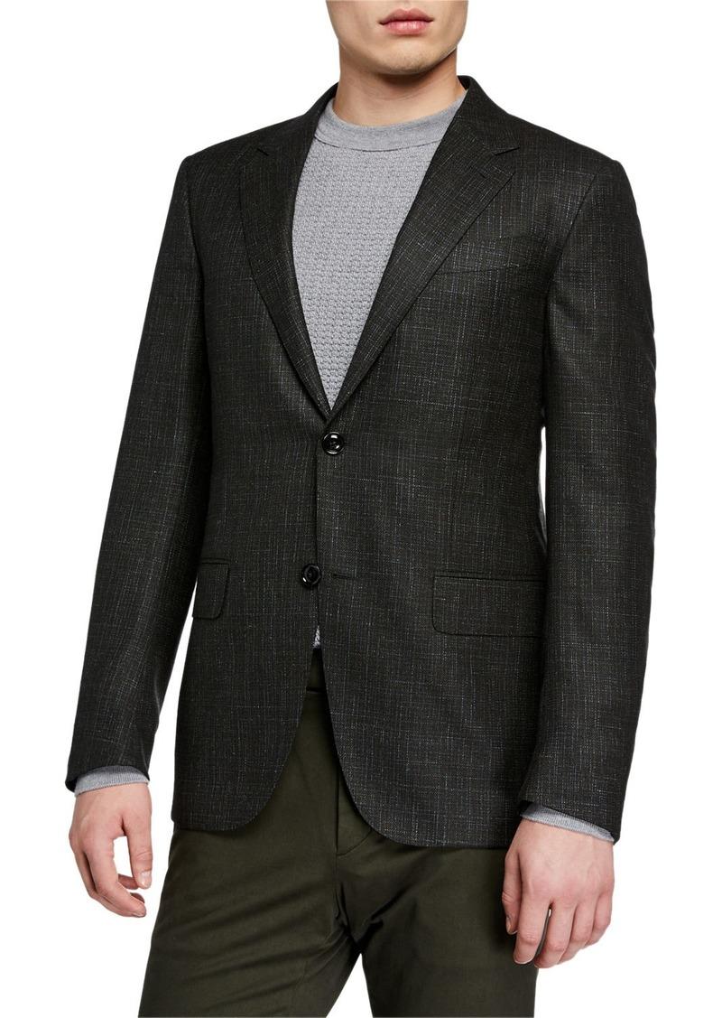 Ermenegildo Zegna Men's Heathered Wool/Cashmere Blazer