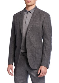 Ermenegildo Zegna Men's Herringbone Two-Button Jacket