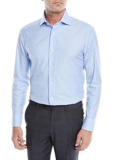 Ermenegildo Zegna Men's Houndstooth Dress Shirt