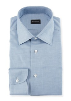 Ermenegildo Zegna Men's Micro-Check Dress Shirt