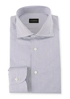 Ermenegildo Zegna Men's Multi-Stripe Cotton Dress Shirt