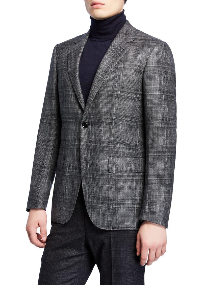 Ermenegildo Zegna Men's Plaid Wool Sport Coat