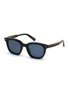 Ermenegildo Zegna Men's Shiny Acetate Sunglasses - Polarized