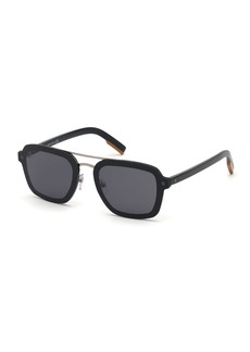 Ermenegildo Zegna Men's Shiny Acetate Sunglasses