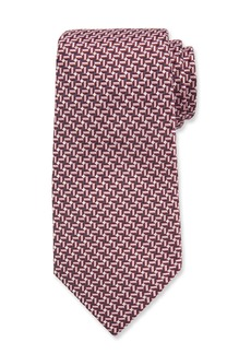 Ermenegildo Zegna Men's Silk Mauve Graphic Tie