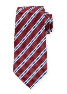 Ermenegildo Zegna Men's Silk Mauve Stripe Tie