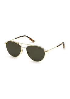 Ermenegildo Zegna Men's Slim Metal Tortoiseshell Aviator Sunglasses
