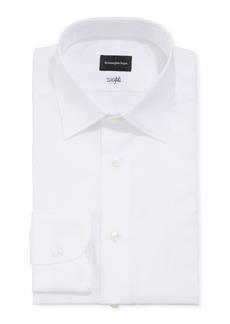 Ermenegildo Zegna Men's Solid Cento Fili Cotton Dress Shirt