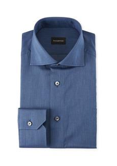 Ermenegildo Zegna Men's Solid Twill Dress Shirt