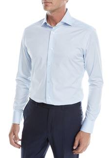 Ermenegildo Zegna Men's Solid Twill Sport Shirt