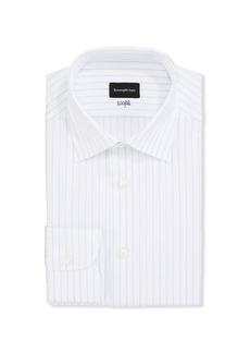 Ermenegildo Zegna Men's Striped 100Fili Cotton Regular-Fit Dress Shirt