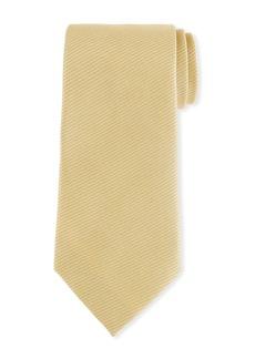 Ermenegildo Zegna Men's Textured Solid Silk Tie  Gold