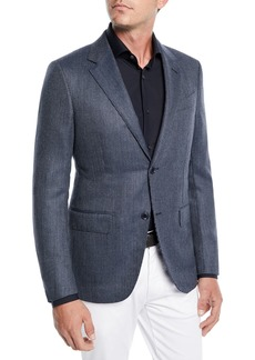 Ermenegildo Zegna Men's Tic Wool-Silk Jacket