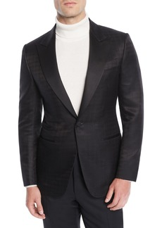 Ermenegildo Zegna Men's Tonal Check Dinner Jacket