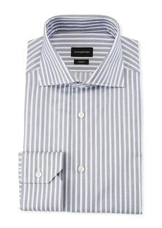 Ermenegildo Zegna Men's Trofeo Wide Stripe Dress Shirt