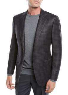 Ermenegildo Zegna Men's Two-Button Check Wool Jacket
