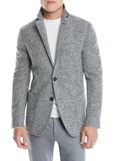 Ermenegildo Zegna Men's Two-Button Plaid Alpaca/Wool Blazer Jacket