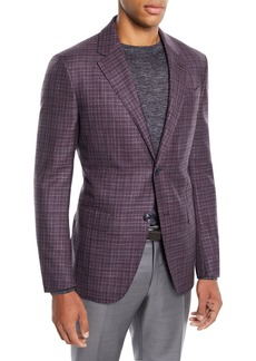 Ermenegildo Zegna Men's Two-Tone Check Two-Button Jacket